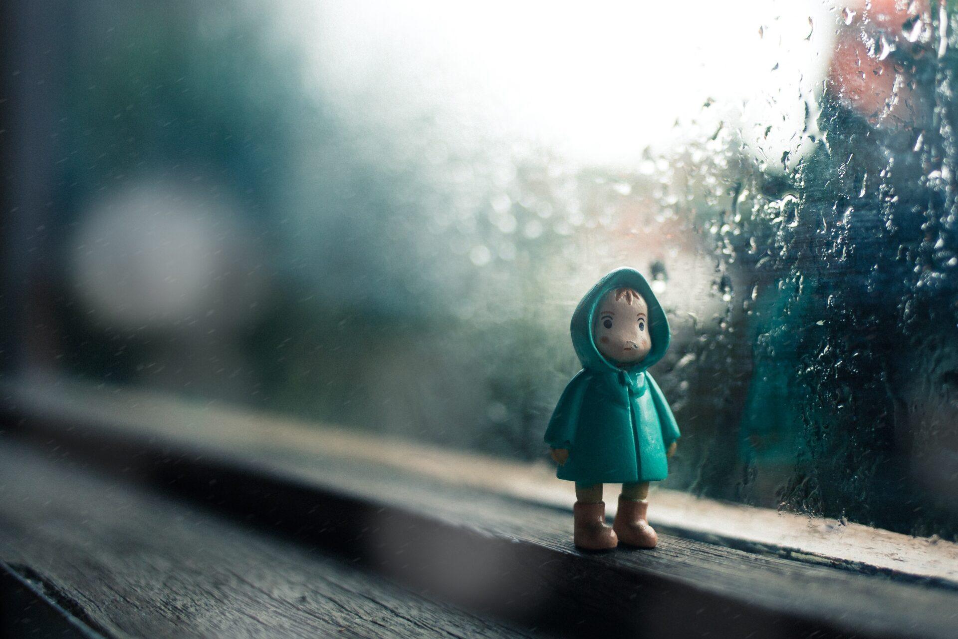 雨とレインコート